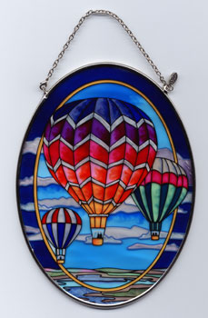 Medium Oval Handpainted Glass Suncatcher
