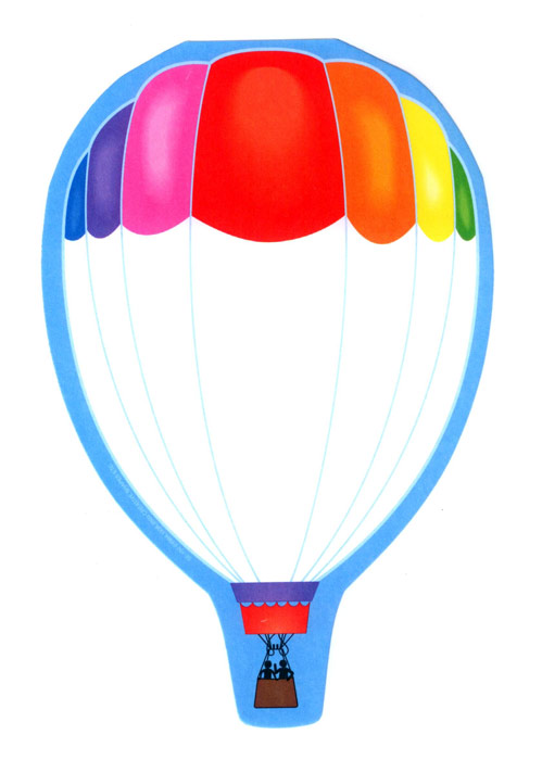 Large Hot Air Balloon Notepad 50 Sheets