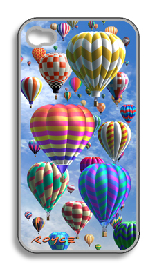 3-D Holographic Hot Air Balloon iPhone Case