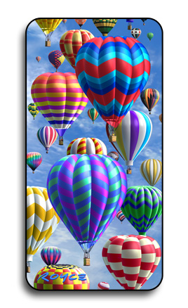 3-D Halographic Hot Air Balloon Magnet