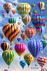 3-D Holographic Hot Air Balloon Mini Puzzle