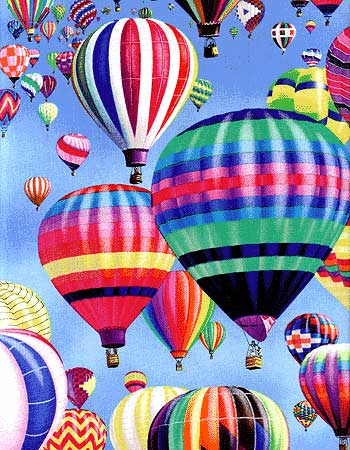 Hot Air Balloon Fabric 4
