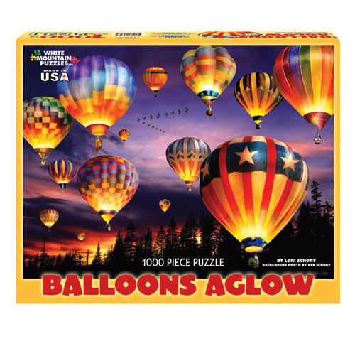 Balloons Aglow 1000 Piece Puzzle
