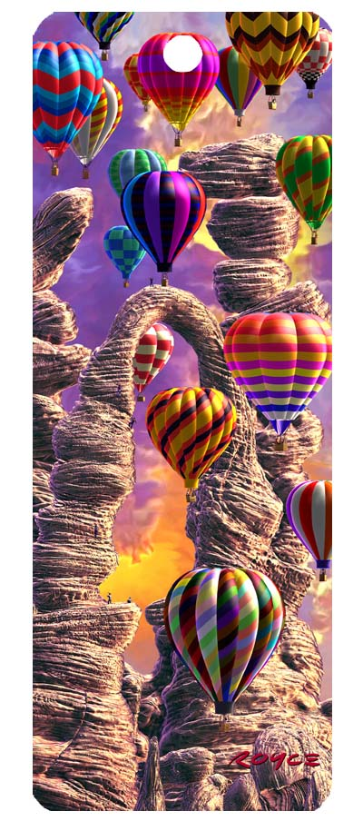 3-D Halographic Hot Air Balloon Bookmark #1