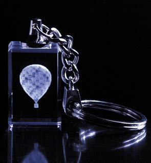 Crystal Impressions Hot Air Balloon Key Chain