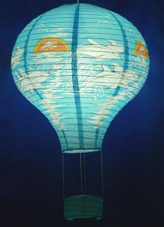 Dolphins Design Hot Air Balloon Oriental Paper Lantern