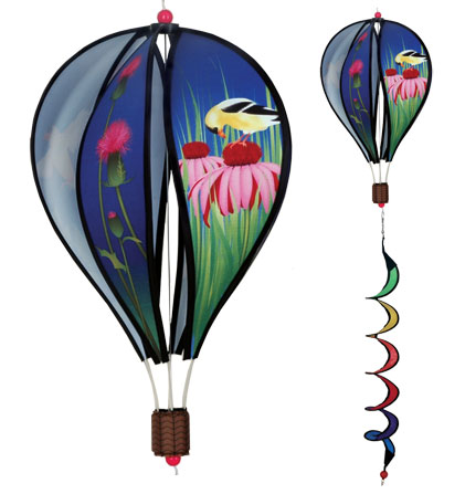 Finches Spinning Hot Air Balloon With Tail