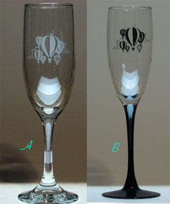6 Ounce Hot Air Balloon Glass Champagne Glass