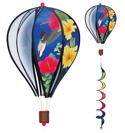 Hummingbirds Spinning Hot Air Balloon With Tail