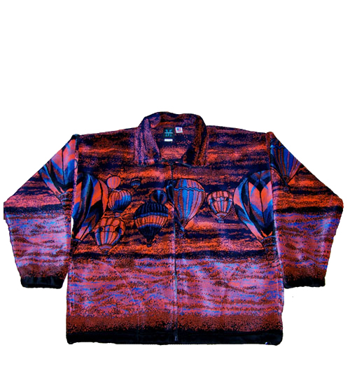 Sunset Color Polar Fleece Hot Air Balloon Jacket Made in America