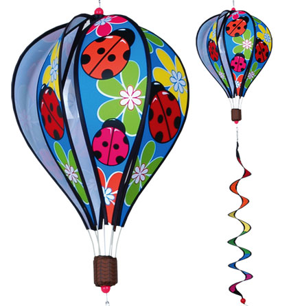 Ladybugs Spinning Hot Air Balloon With Tail