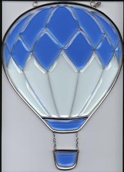 Large Blue Beveled Glass Balloon