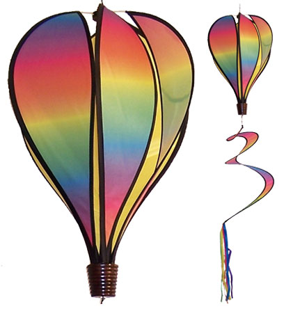 Blended Rainbow Spinning Hot Air Balloon