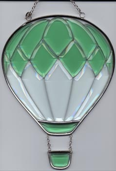 Medium Green Beveled Glass Balloon