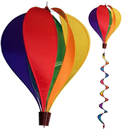 Rainbow Spinning Hot Air Balloon