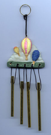 Mini Resin Hot Air Balloon Wind Chime