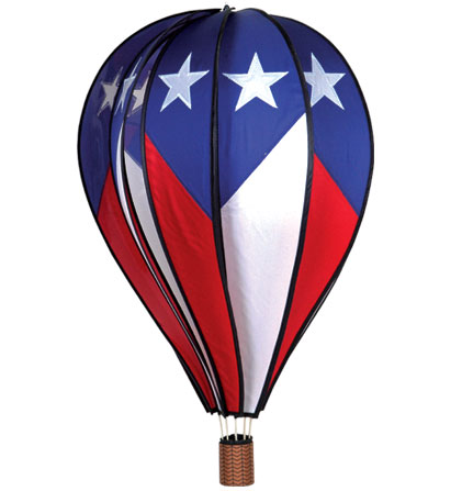 Extra Large Patriotic Design Spinning Hot Air Balloon