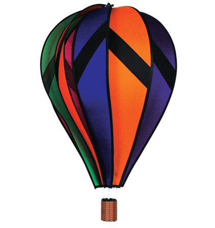 Extra Large Rainbow Design Spinning Hot Air Balloon