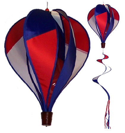 Red White and Blue Spinning Hot Air Ballon