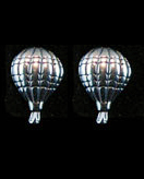 Solid Sterling Silver Hot Air Balloon Stud Earrings
