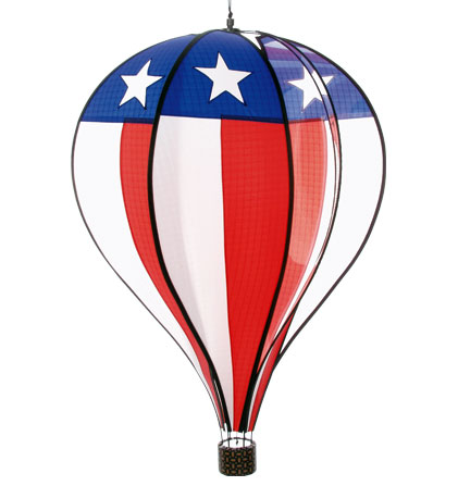Large Stars and Stripes Spinning Hot Air Balloon
