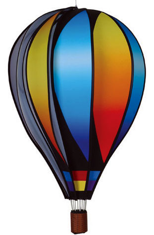 Large Sunset Gradient Design Spinning Hot Air Balloon
