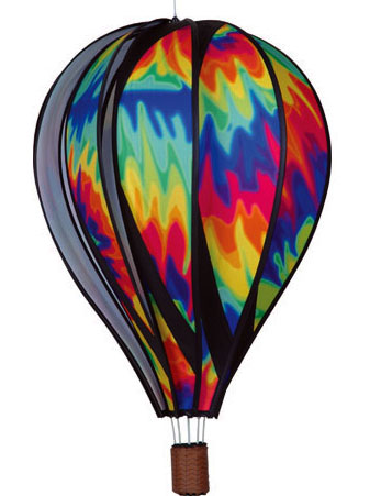 Large Tie Dye Spinning Hot Air Balloon